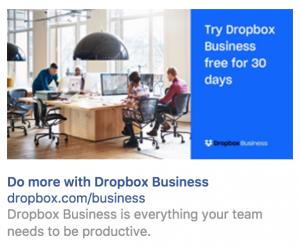 dropbox remarketing example